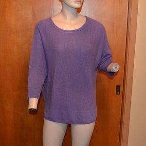 Dana Buchman Batwing Purple Knit Sweater Size XL